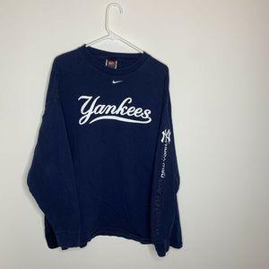 Nike Mens XXL Navy MLB New York Yankee Long Sleeve